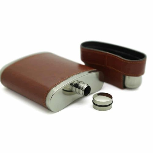 brooklyn-brown-8oz-stainless-steel-hip-flask-with-hidden-cups-2