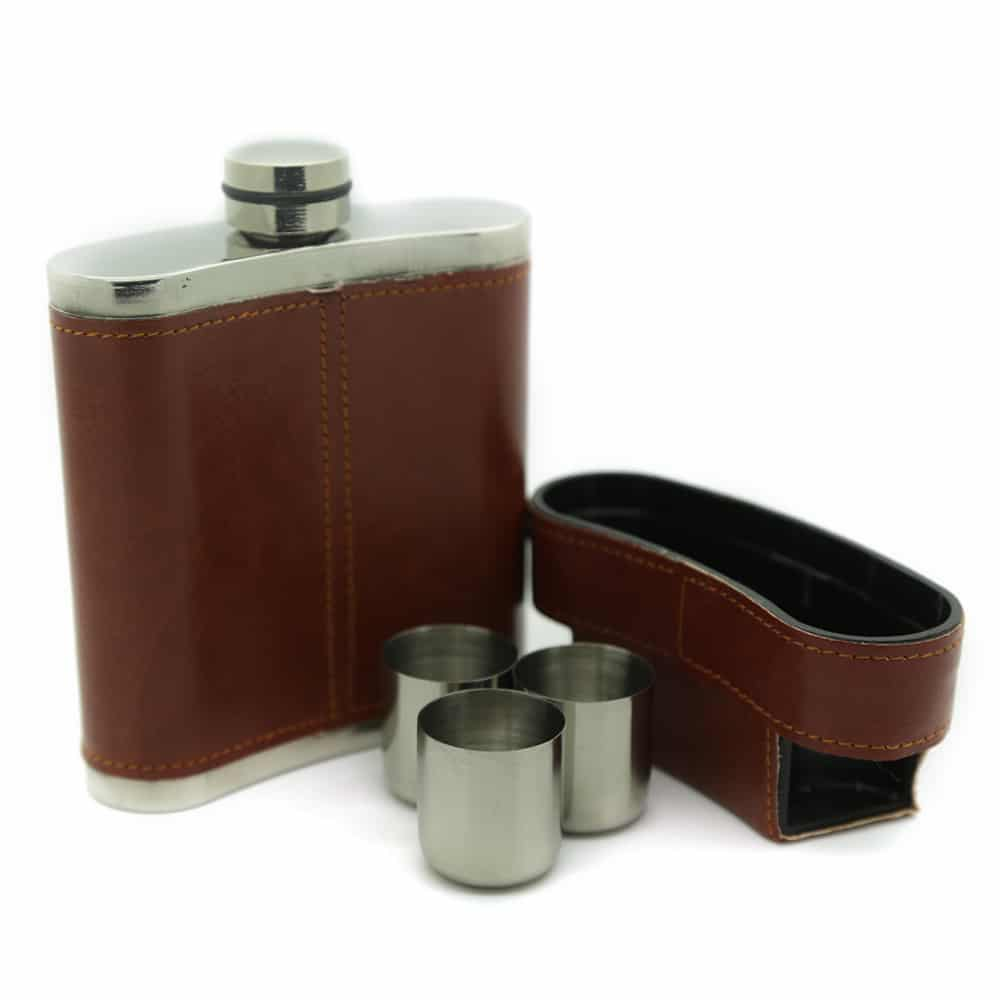 brooklyn-brown-8oz-stainless-steel-hip-flask-with-hidden-cups-3