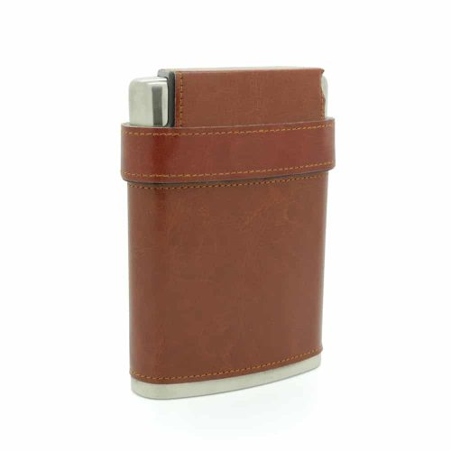 brooklyn-brown-8oz-stainless-steel-hip-flask-with-hidden-cups-1