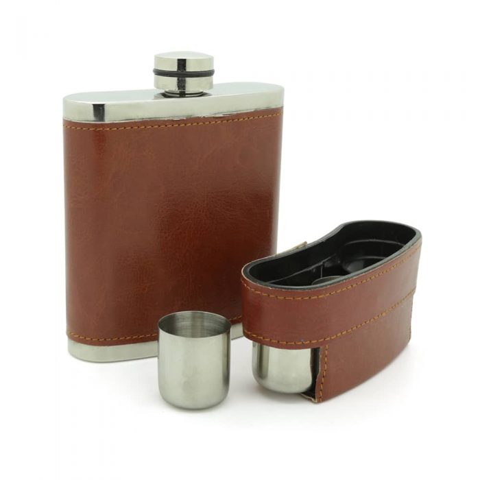 brooklyn-brown-8oz-stainless-steel-hip-flask-with-hidden-cups-4