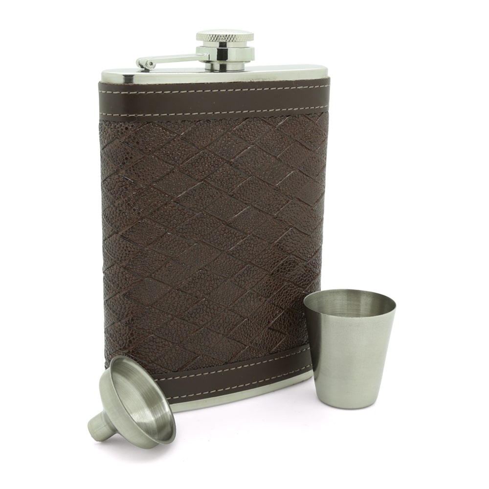 alligator-texture-stainless-steel-9oz-hip-flask-3