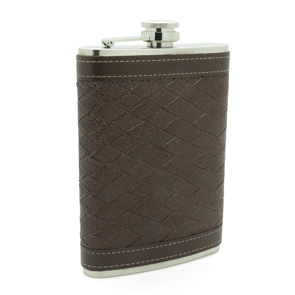 alligator-texture-stainless-steel-9oz-hip-flask-1