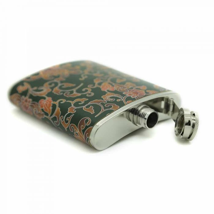 floral-pattern-stainless-steel-7oz-hip-flask-2
