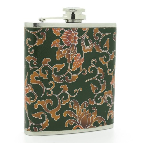 floral-pattern-stainless-steel-7oz-hip-flask-1