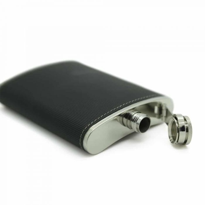 black-textured-8oz-stainless-steel-hip-flask-2
