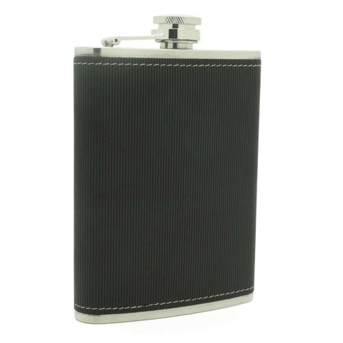 black-textured-8oz-stainless-steel-hip-flask-1
