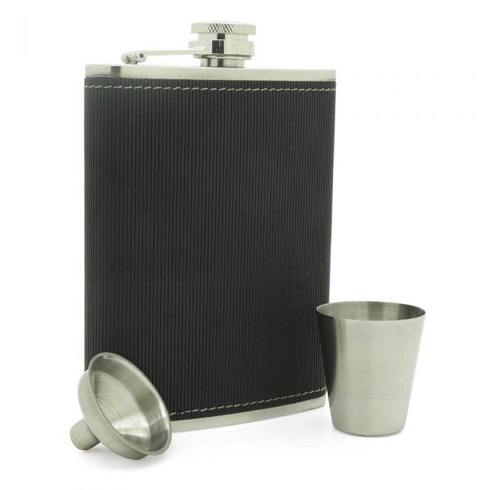 black-textured-8oz-stainless-steel-hip-flask-3