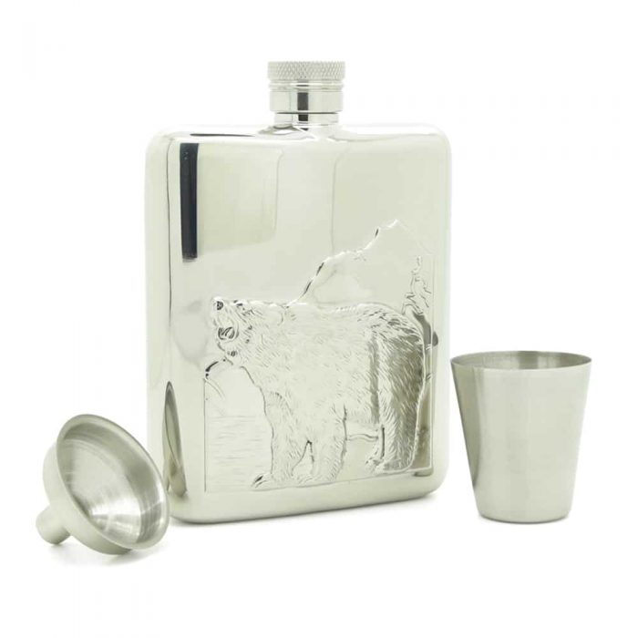 roaring-bear-6oz-stainless-steel-hip-flask-3