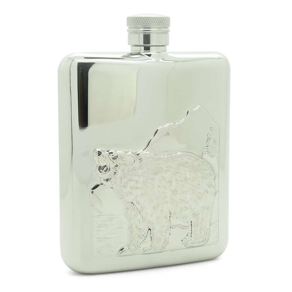 roaring-bear-6oz-stainless-steel-hip-flask-1