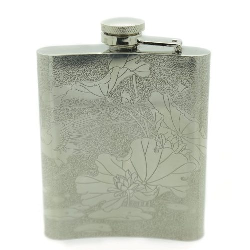 red-crowned-crane-7oz-stainless-steel-hip-flask-1
