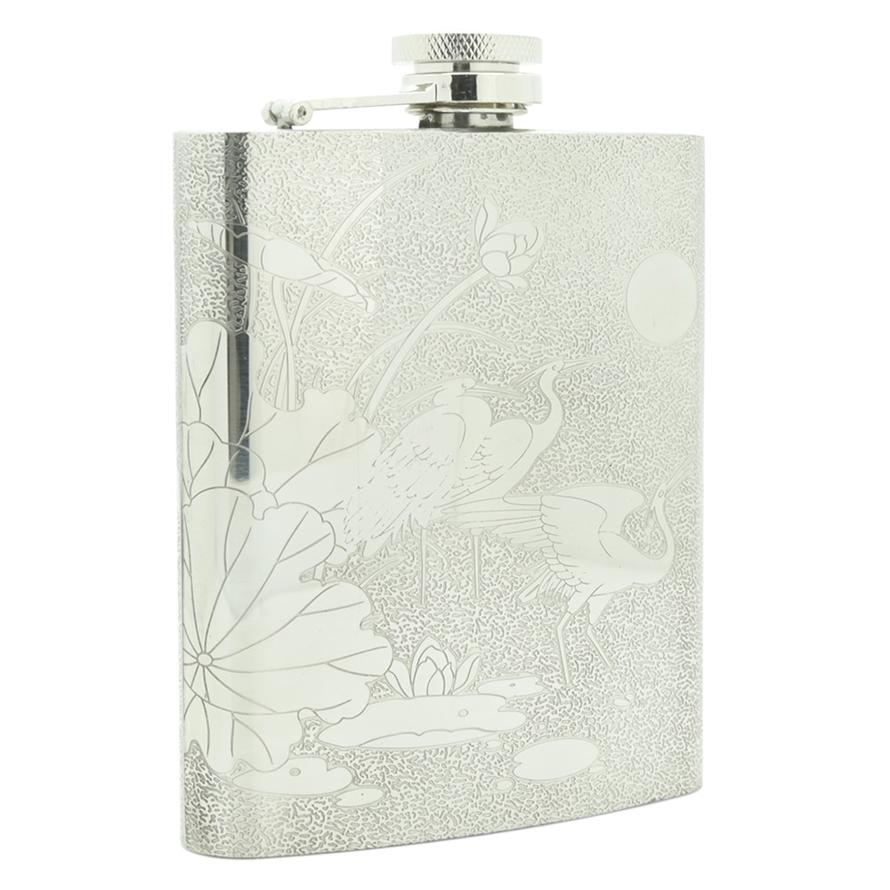 red-crowned-crane-7oz-stainless-steel-hip-flask-5