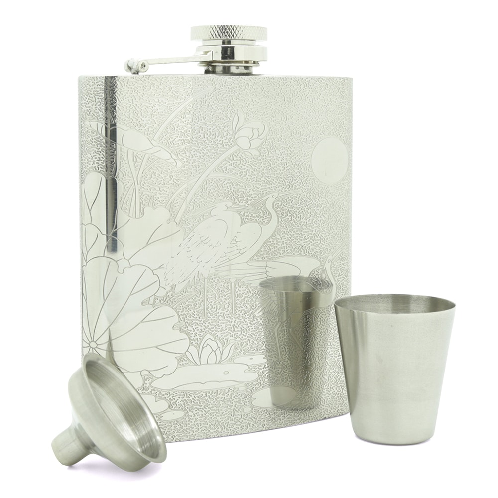 red-crowned-crane-7oz-stainless-steel-hip-flask-3