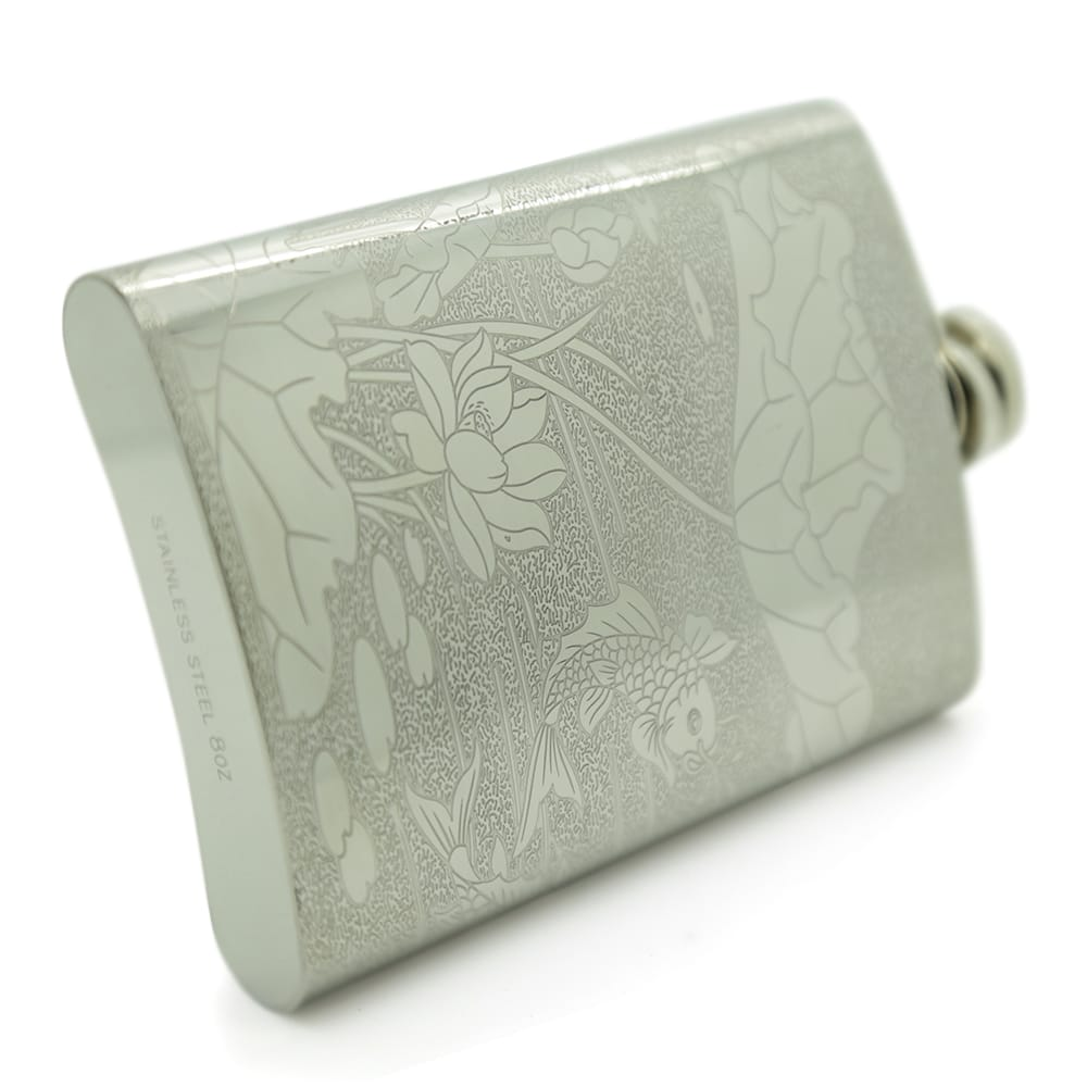 lotus-fish-8oz-stainless-steen-hip-flask-4