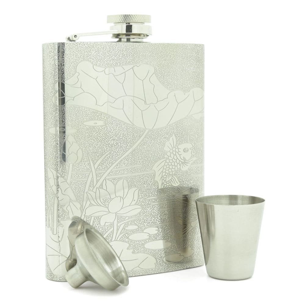lotus-fish-8oz-stainless-steen-hip-flask-3