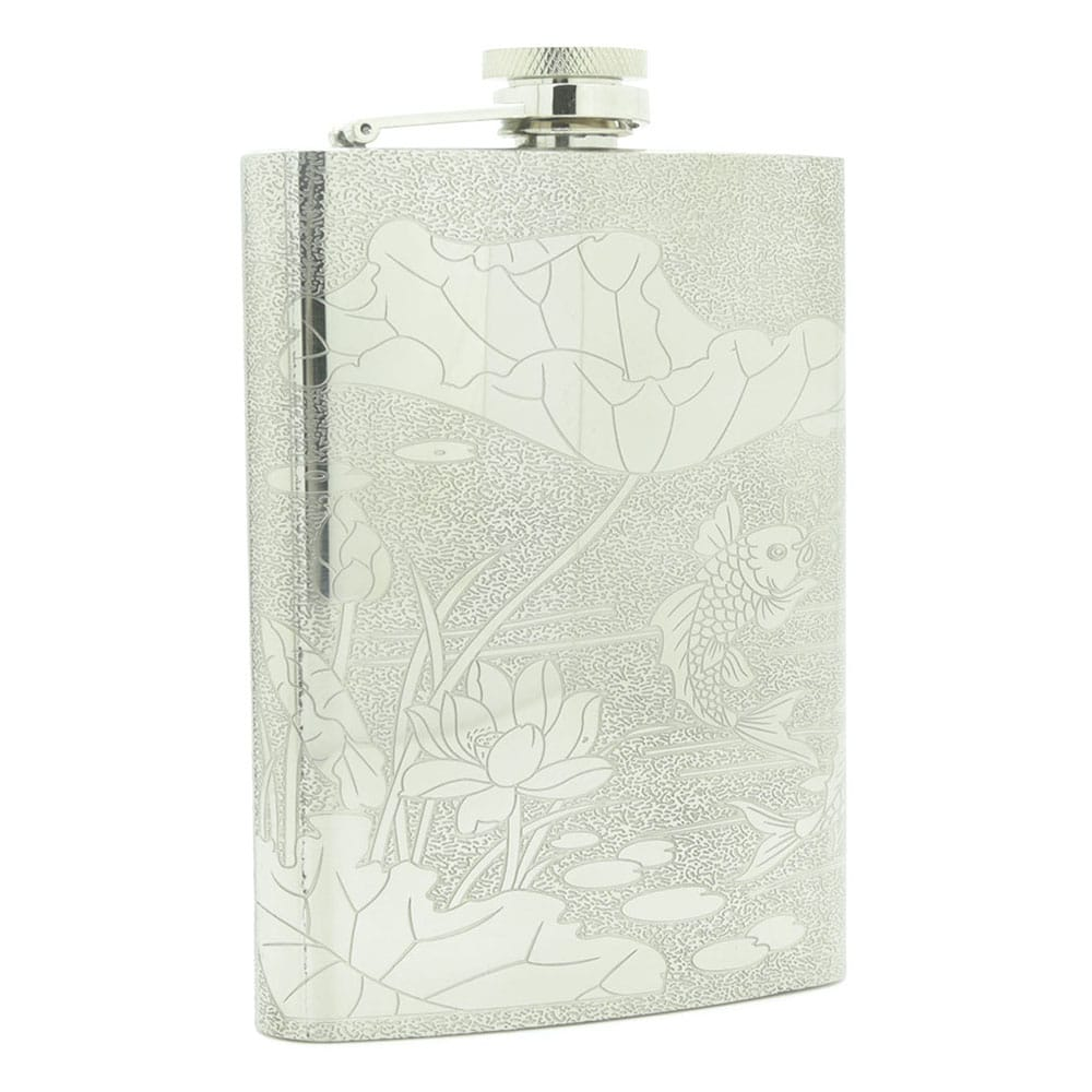 lotus-fish-8oz-stainless-steen-hip-flask-1