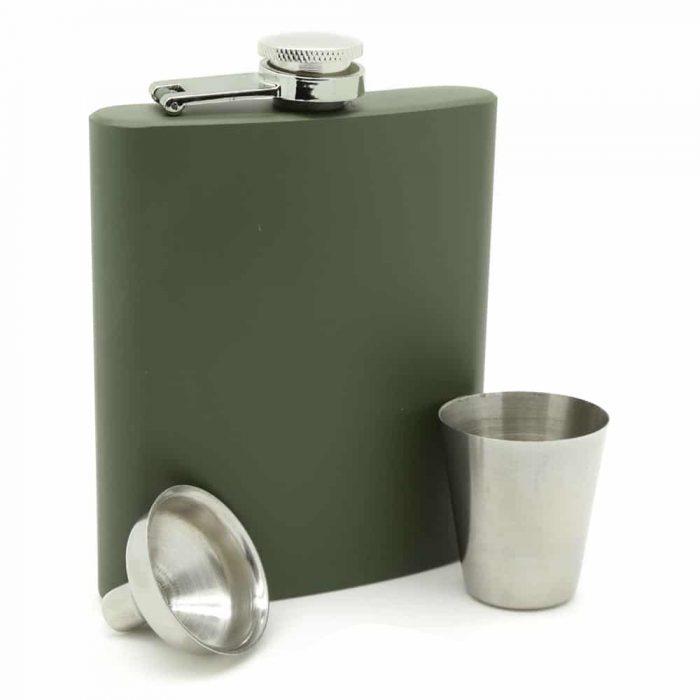 army-green-7oz-hip-flask-4