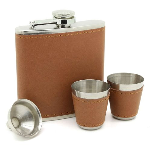 brown-6oz-hip-flask-set-1