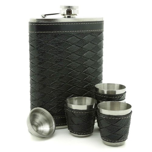 leather-wrap-9oz-hip-flask-w-4-cups-1