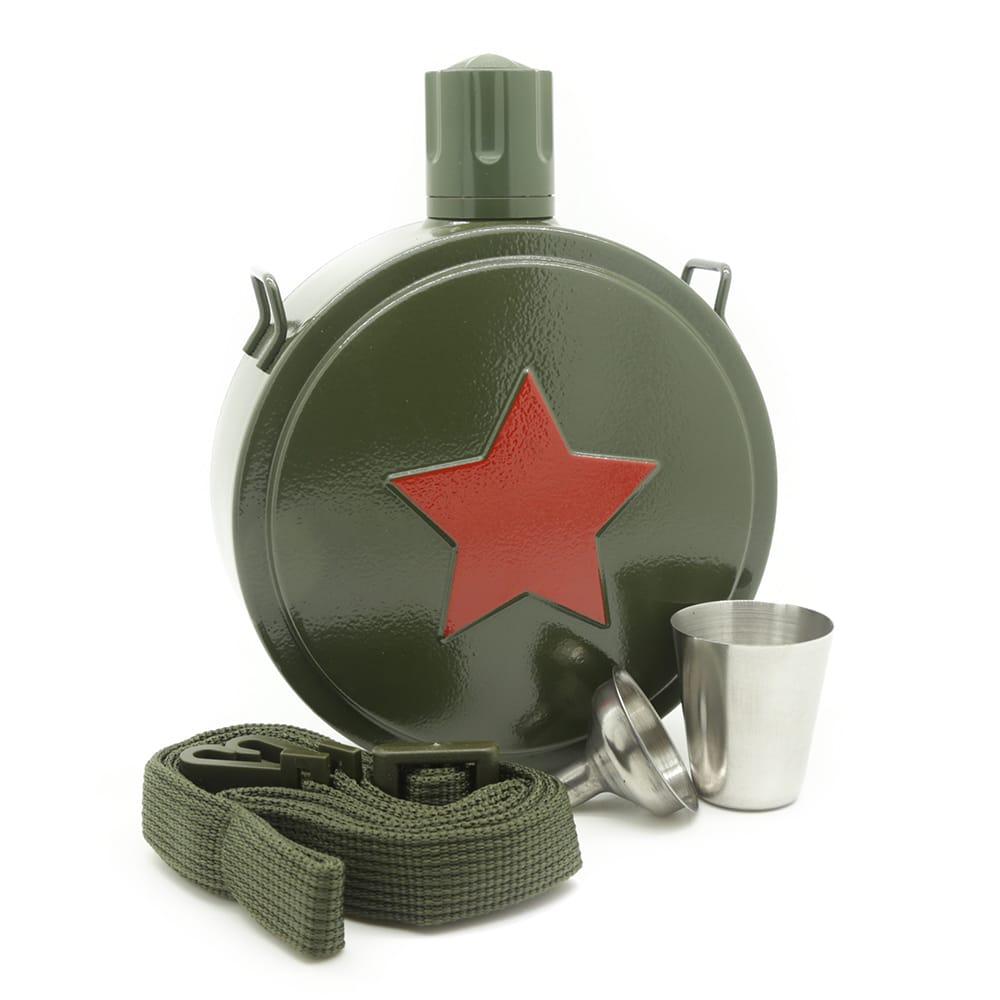 military-star-hip-flask-3