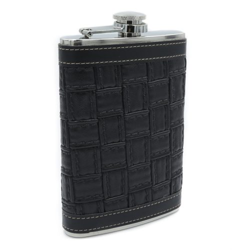 alligator-texture-black-9oz-hip-flask-1