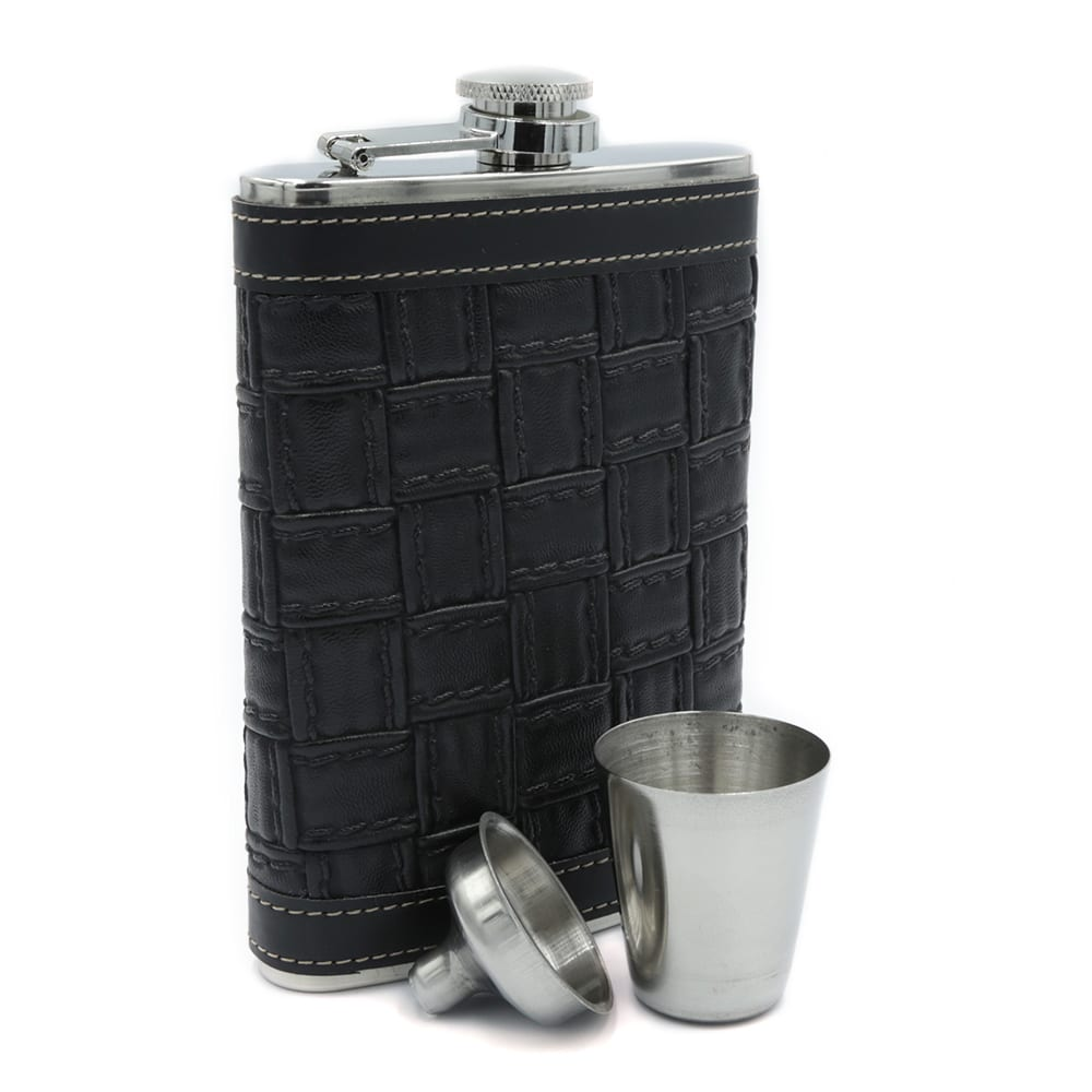 alligator-texture-black-9oz-hip-flask-3