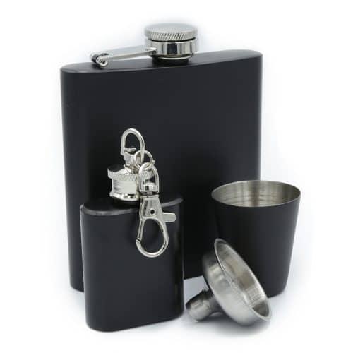 black-hip-flask-set-1