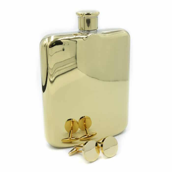 gold-6oz-hip-flask-cufflink-set-1