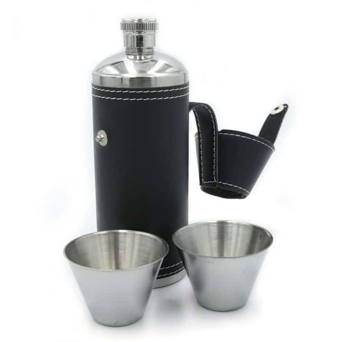 black-adventure-cylinder-8oz-hip-flask-w-cups-3