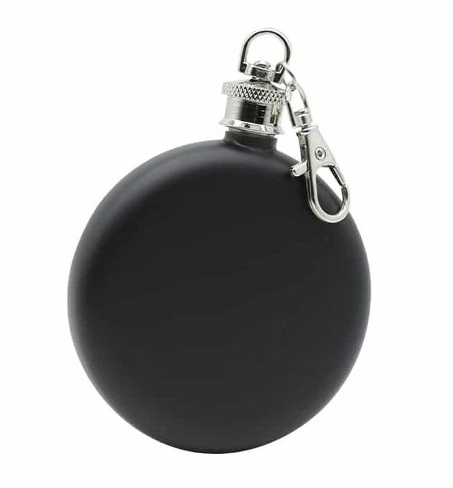 round-black-3oz-hip-flask-w/-keychain-1