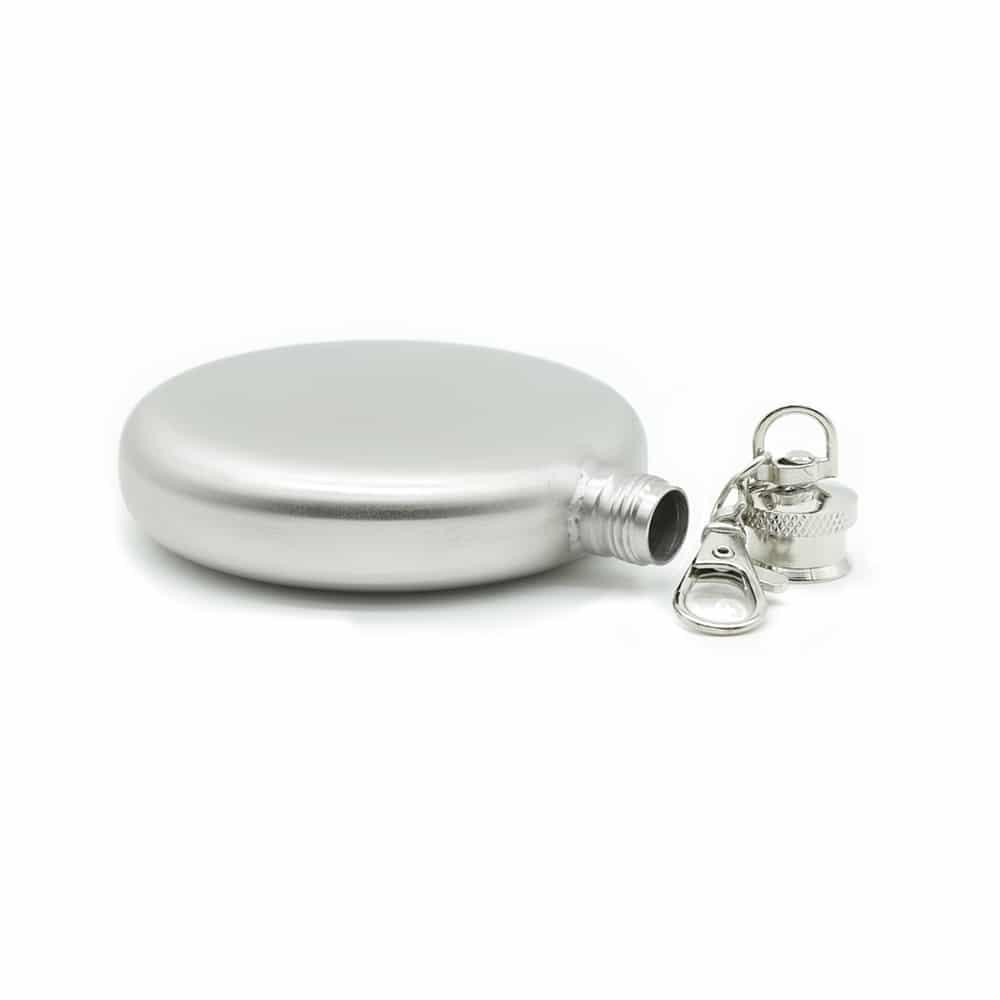 round-silver-3oz-hip-flask-w/-keychain-2