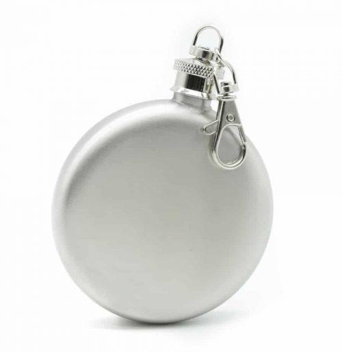 round-silver-3oz-hip-flask-w/-keychain-1