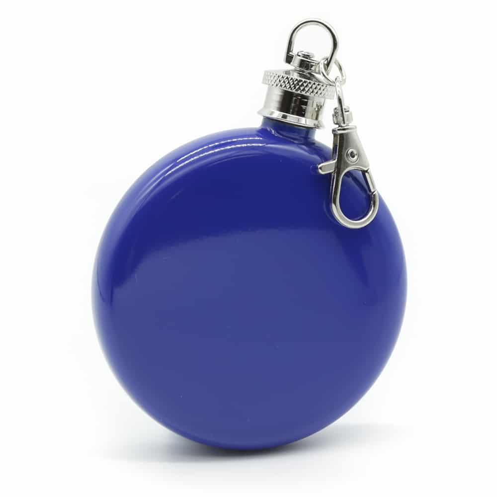round-mauve-3oz-hip-flask-w/-keychain-1