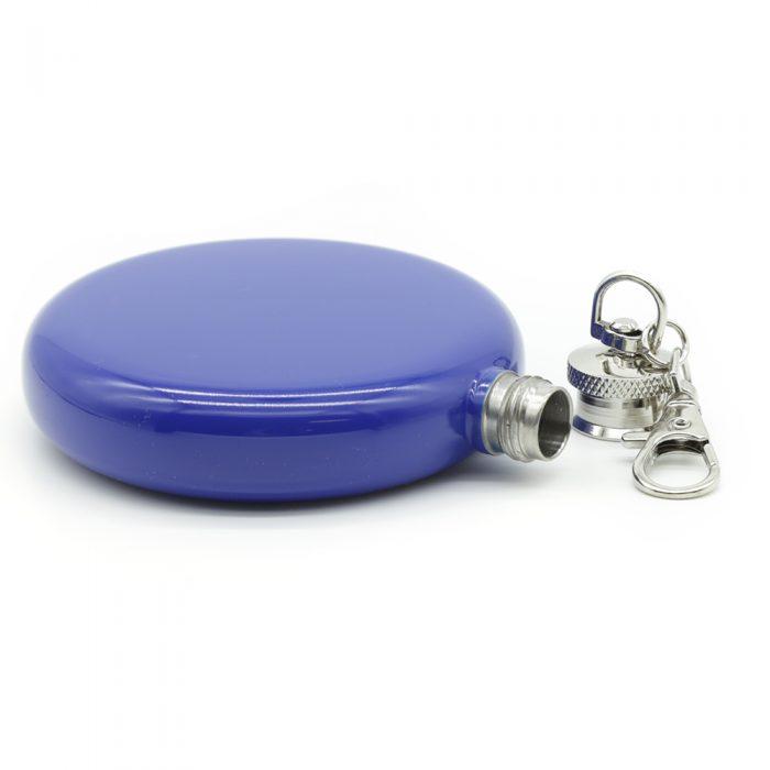 round-mauve-3oz-hip-flask-w/-keychain-2
