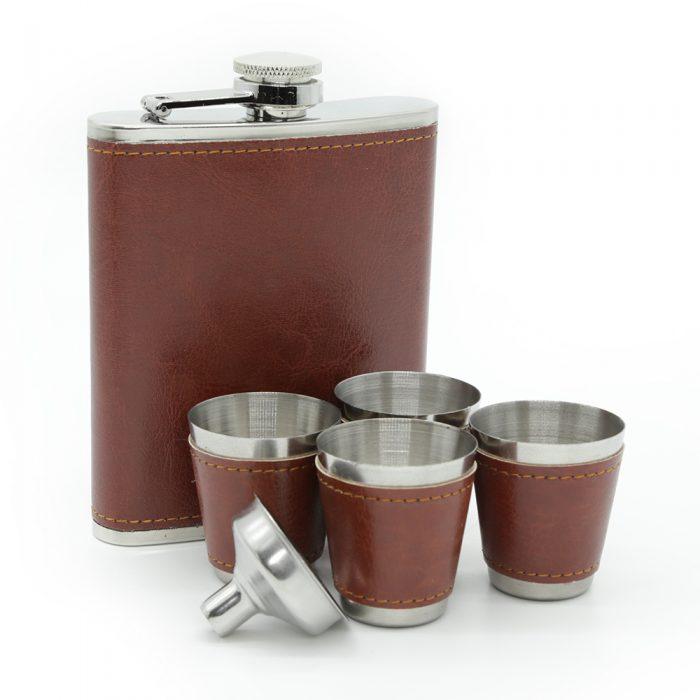 6oz-saddle-brown-luxury-hip-flask-box-set-1